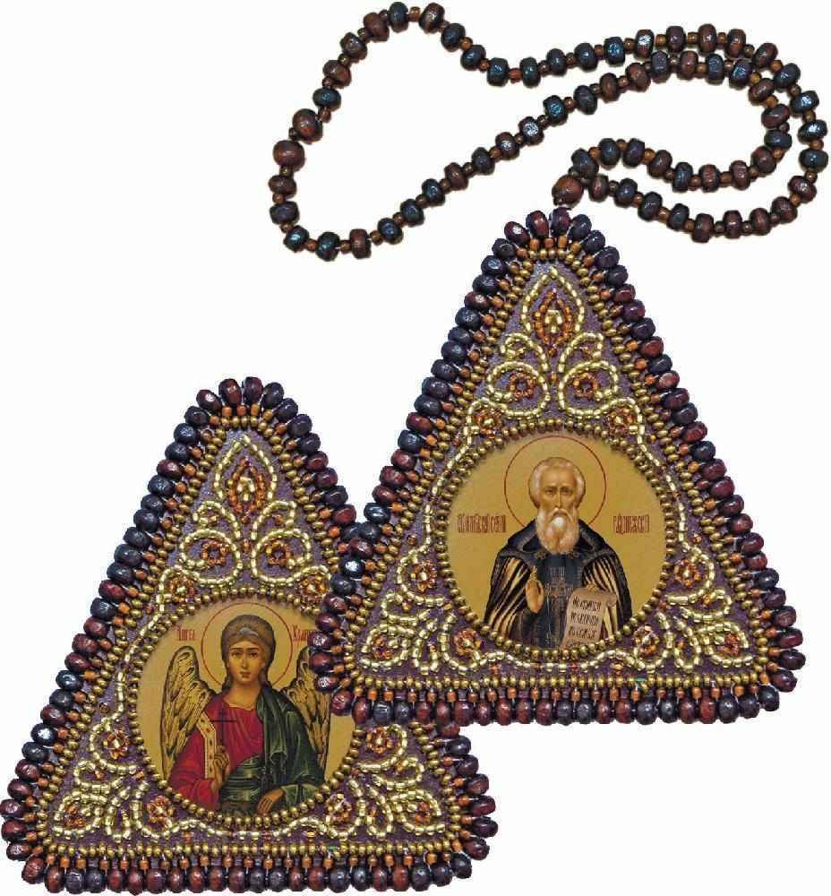 ТР 1145 Св. Прп. Сергий Радонежский и Ангел Хранитель