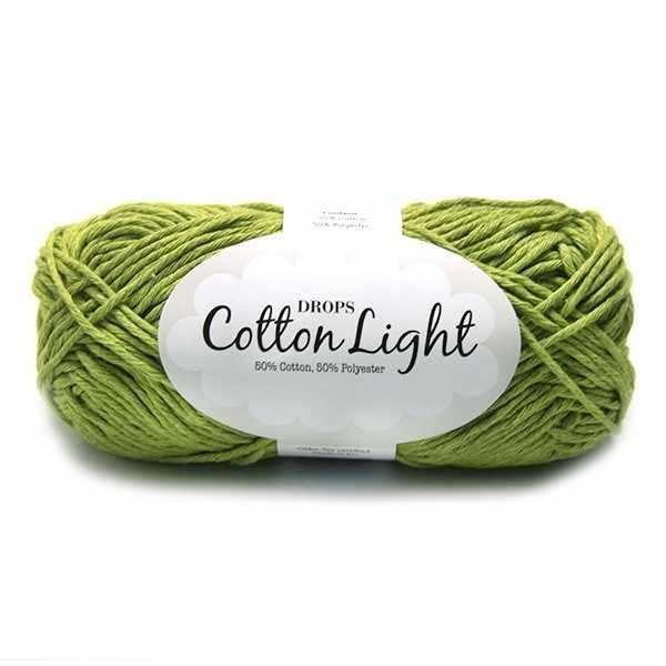Пряжа DROPS Cotton Light Цвет.11 Зеленый