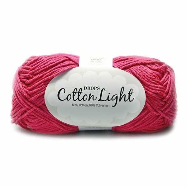 Пряжа DROPS Cotton Light Цвет.18 Розовый