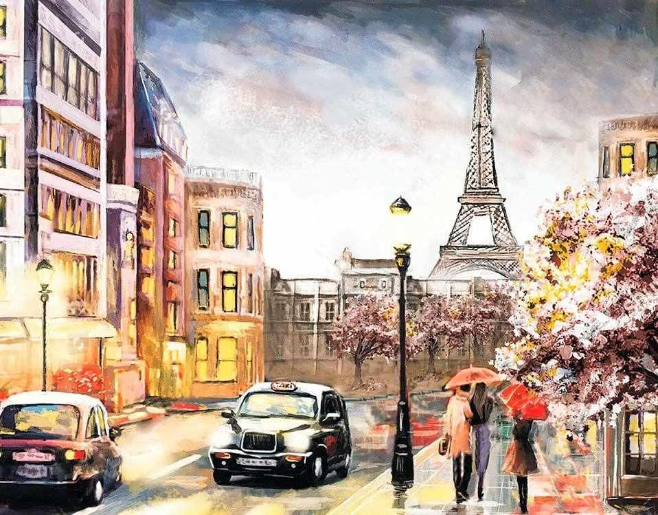 Алмазная вышивка lg142 «Парижским вечером»