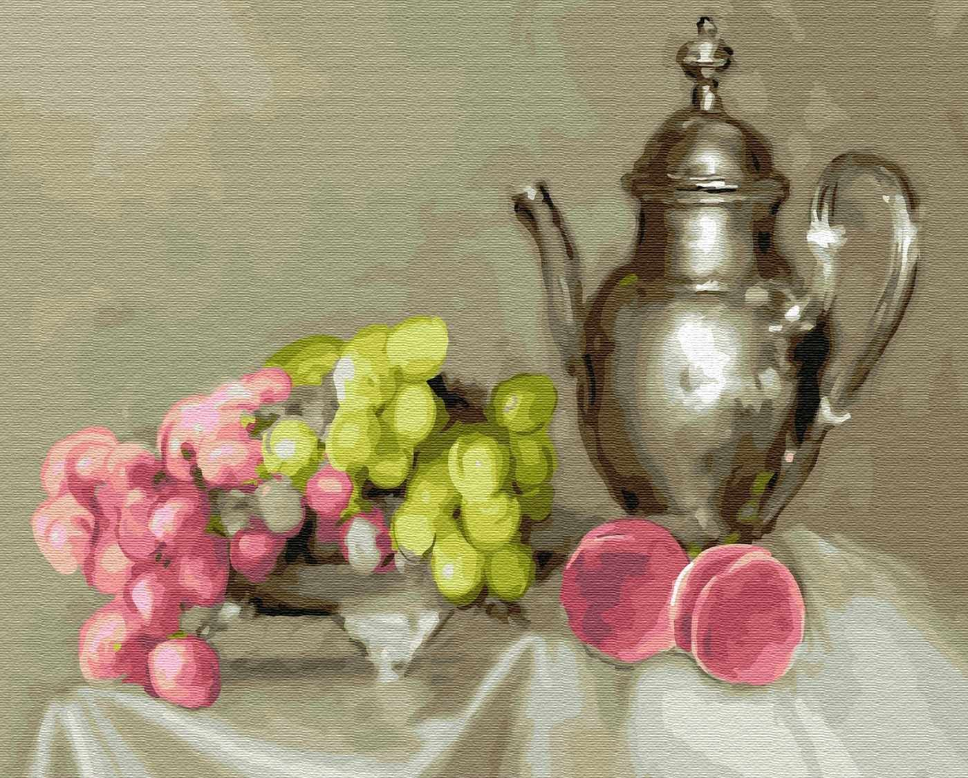 KH0409 Бузин. Натюрморт с виноградом