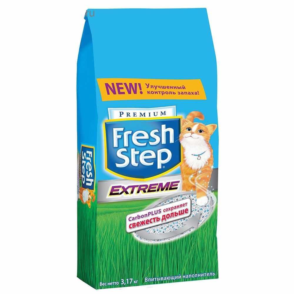 Наполнитель Fresh Step тройной контроль запахов д/кошек