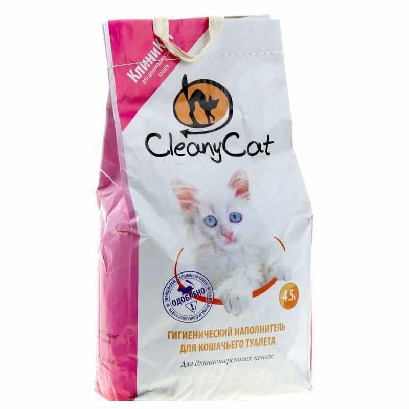 Наполнитель Cleany Cat  для длинношерстных кошек