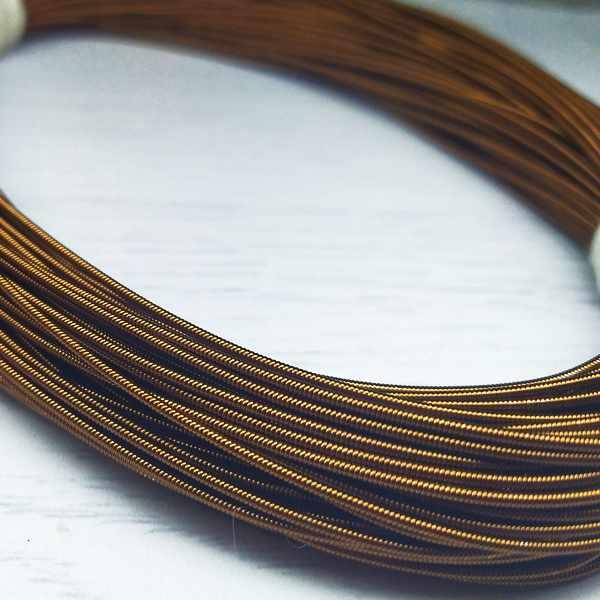 КЖ004НН12 Канитель жесткая Бронза 1,2 мм, 5 гр.  +/- 0,1 гр.