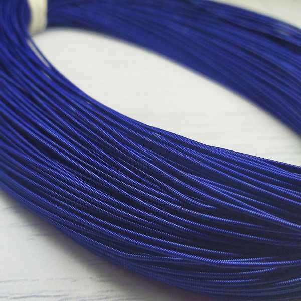 КЖ007НН1 Канитель жесткая Синий 1 мм, 5 гр +/- 0,1 гр.
