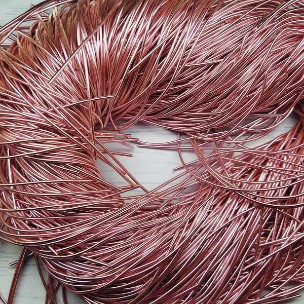 КА009НН1 Упаковка Канитель гладкая Розовый 1 мм, 5 гр +/- гр.