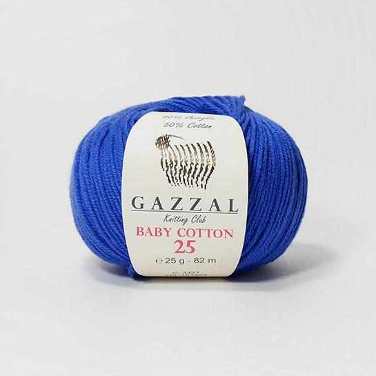 Пряжа GAZZAL Baby Cotton 25 Цвет.3421