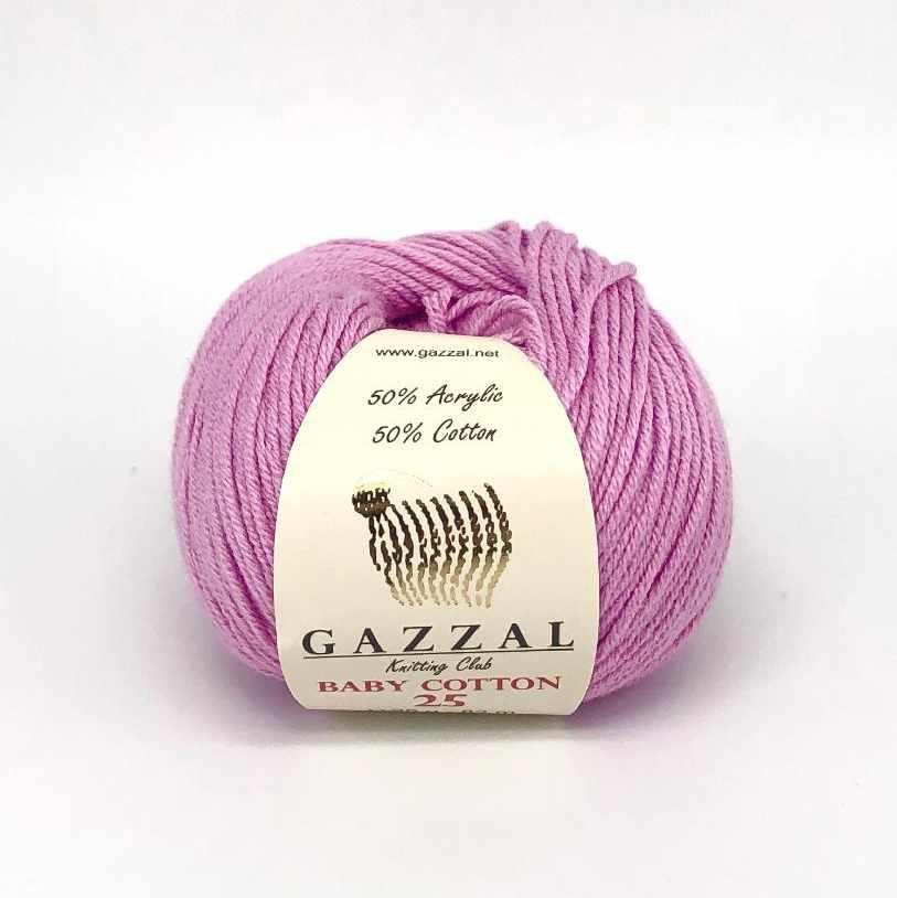 Пряжа GAZZAL Baby Cotton 25 Цвет.3422
