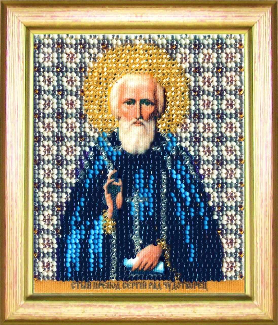 """Б-1154 """"Икона святой преподобный Сергий Радонежский"""" - чм"""