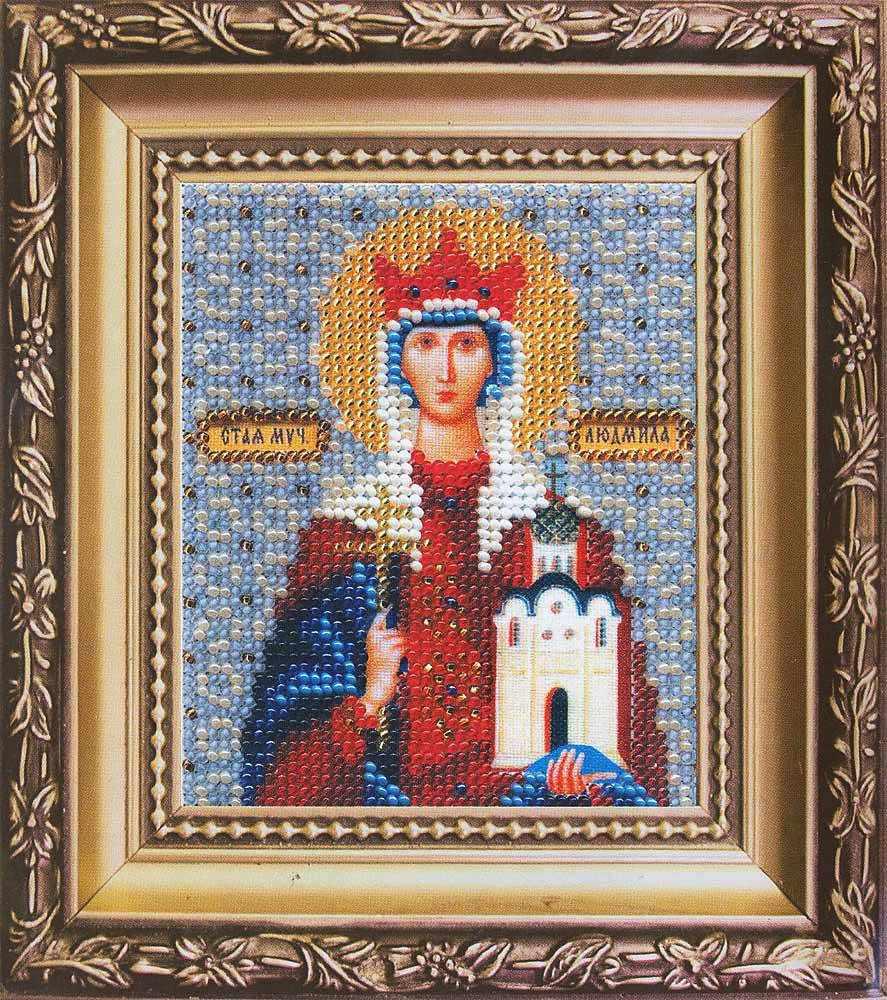 """Б-1041 """"Икона святая мученица Людмила"""""""