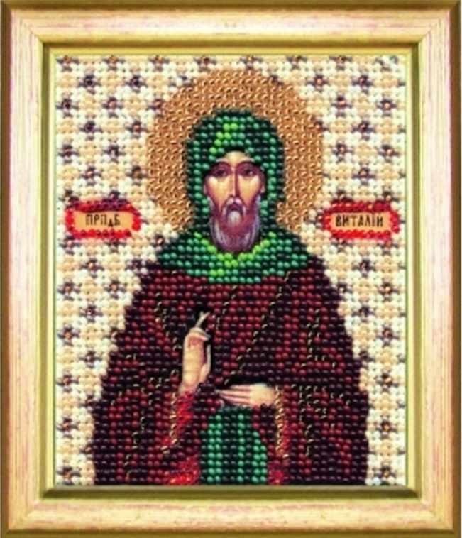 """Б-1093 """"Икона святой преподобный Виталий"""""""