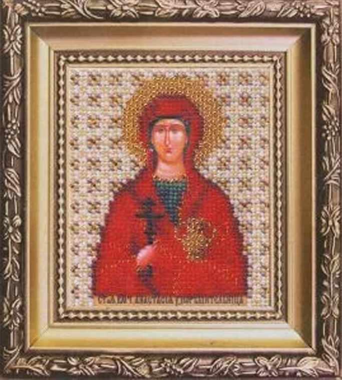 """Б-1069 """"Икона святая мученица узорешительница Анастасия"""""""