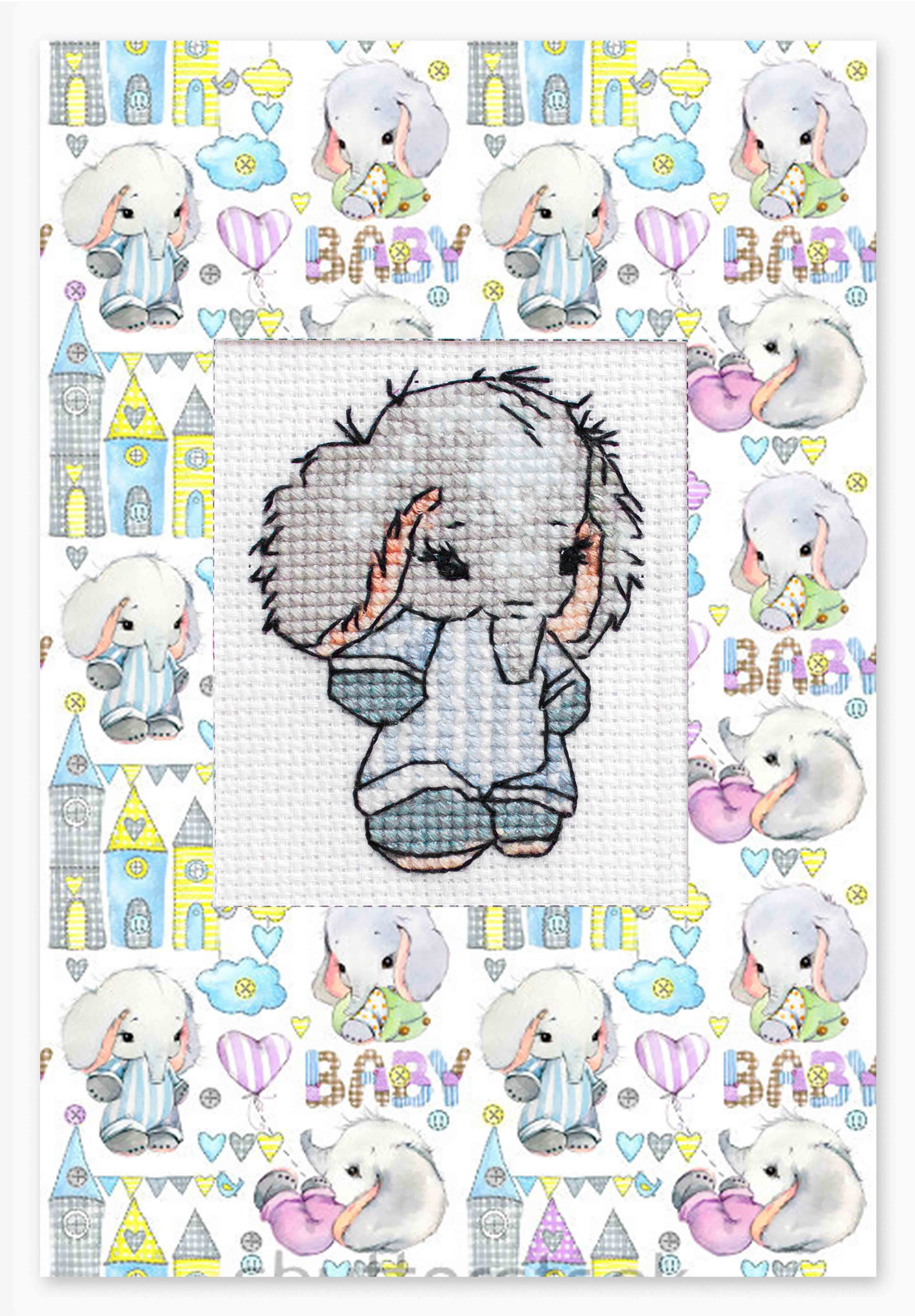 """(S)P-83 Набор для изготовления открытки """"Слонёнок"""" (Luca-S)"""