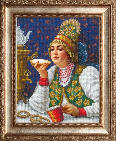 2002 Русская красавица за чаем (РИ)