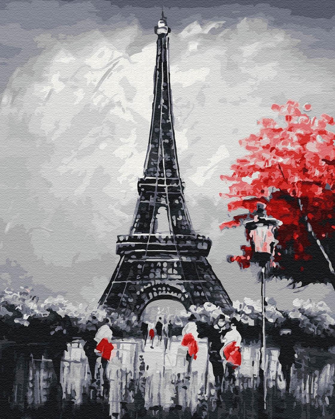 Матричная мозаика эйфелева башня фото течение