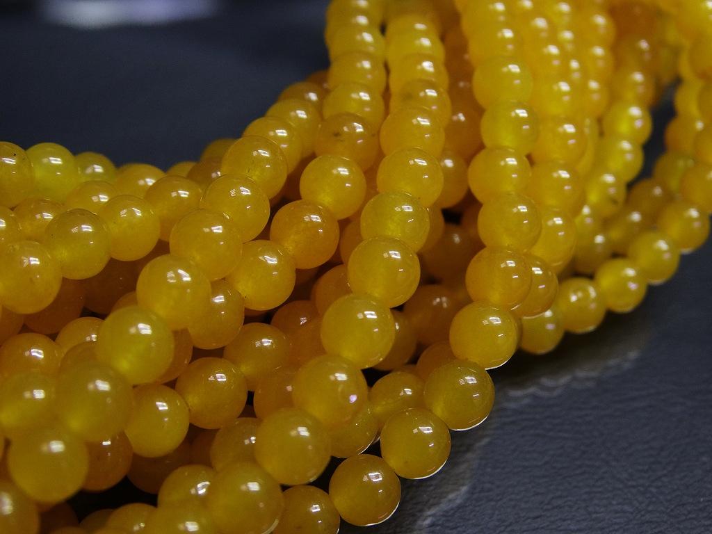 ПК004НН8 Бусины из природного камня Агат (желтый) 8 мм, 5 шт/упак.