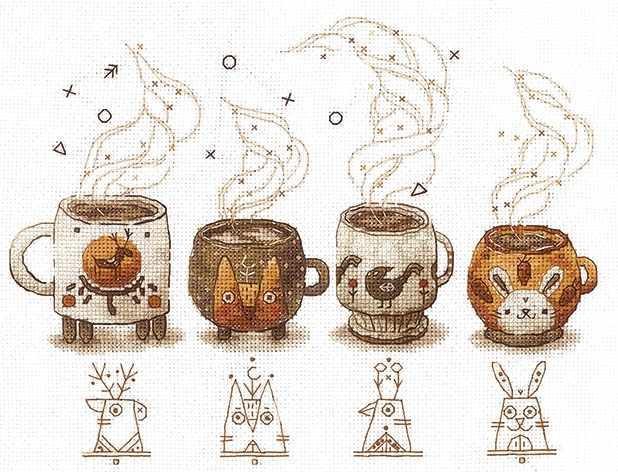 Электронная схема для вышивания Хранители кофе