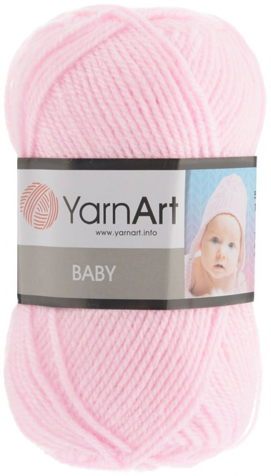 Пряжа YarnArt Baby Цвет.853 Бледно розовый