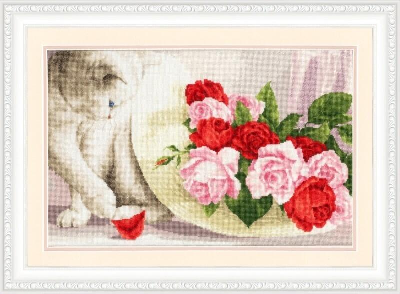 З-054 Кот и розы