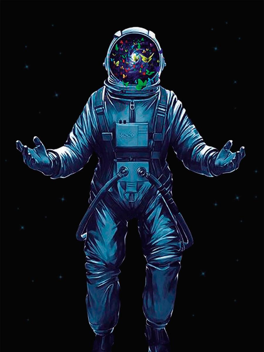 Алмазная вышивка lg239 Космонавт с бабочками