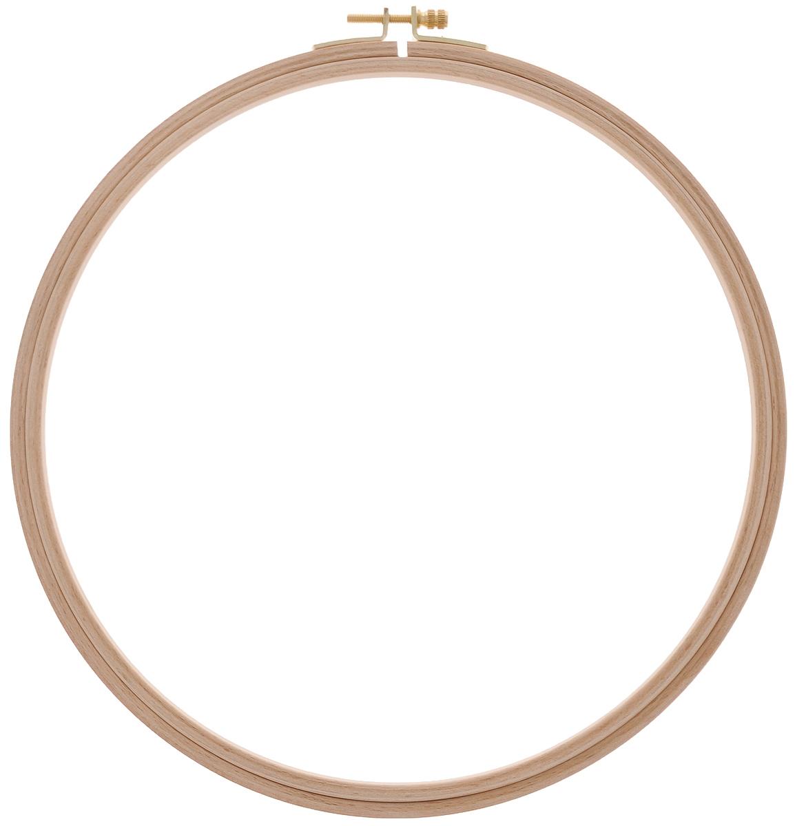 202-8 Пяльцы круглые с замком, бук, высота обода  8 мм, диаметр 25 см
