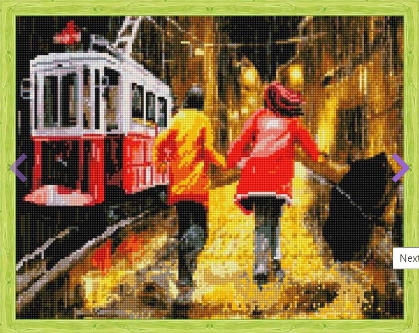 Алмазная вышивка qa201872 Последний трамвай