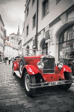 Алмазная вышивка lg225 Красная ретро автомобиль