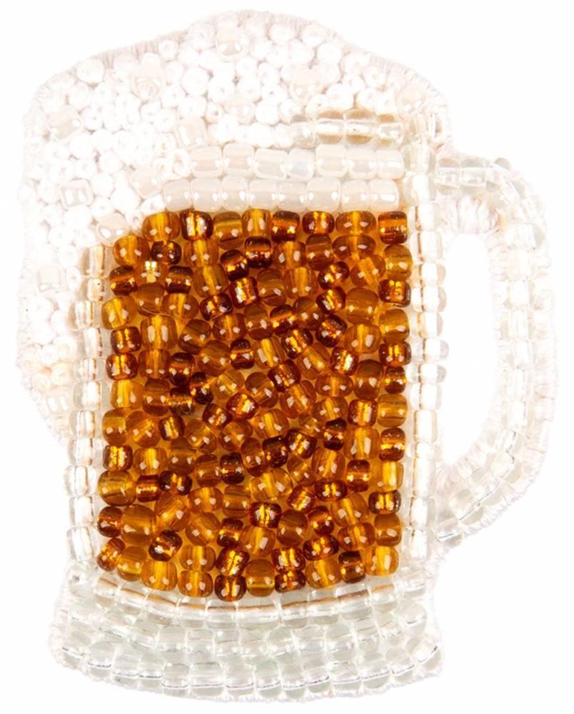 10-018 Брошь. Кружка пива