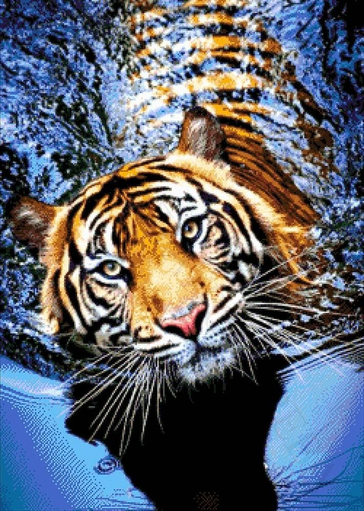 """46-2944-НТ """"Тигр в реке"""" - набор для вышивания (А. Токарева)"""