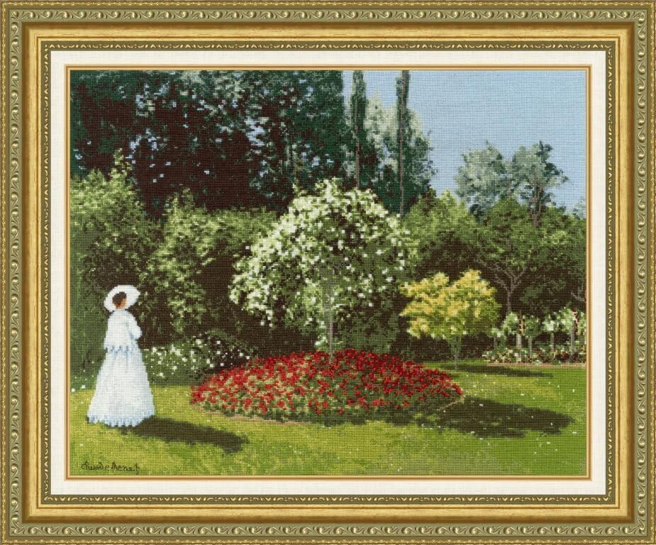 МК-051 Дама в саду Сент-Адресс