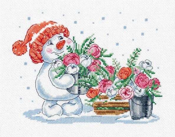 8-387 Зима в розовом цвете
