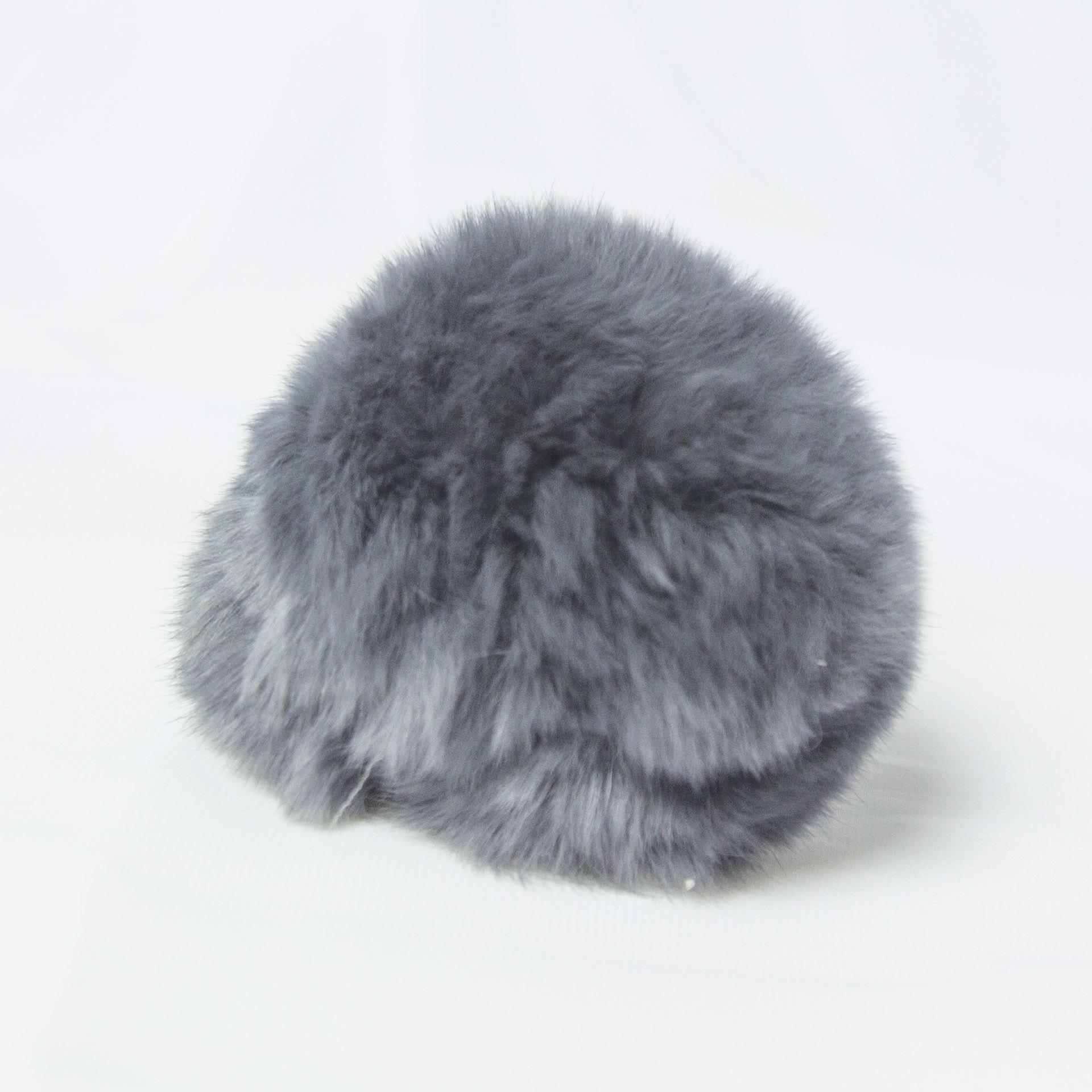 Помпон D6-9 мех кролик Цвет.02 Св.серый