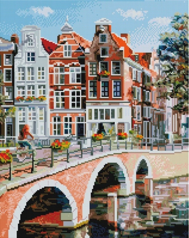 Алмазная вышивка 563-ST-S Императорский канал в Амстердаме