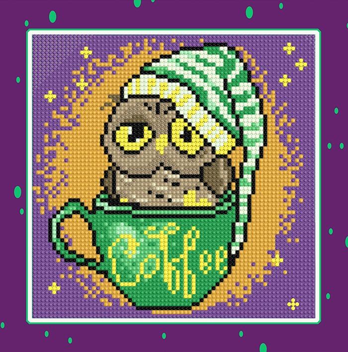 Алмазная вышивка БСА25-086 Волшебный кофе