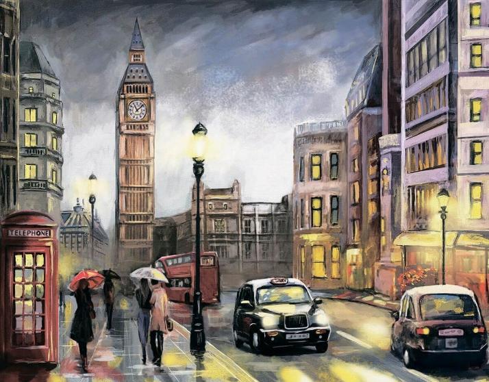 Алмазная вышивка lg251 Красочный Лондон