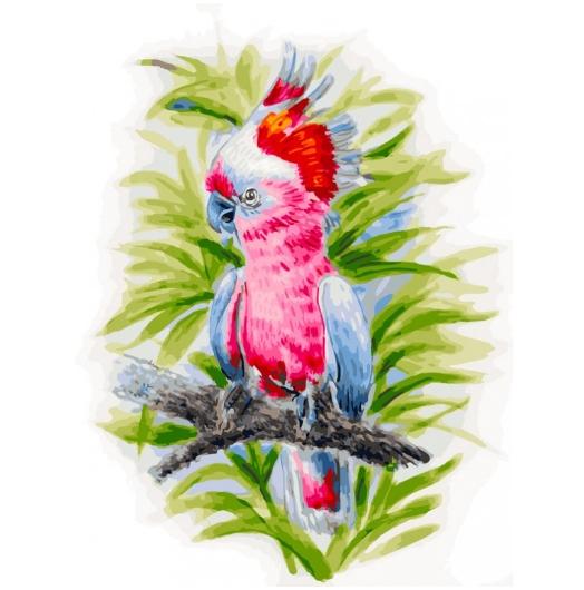 361-AS Розовый попугай (Белоснежка)