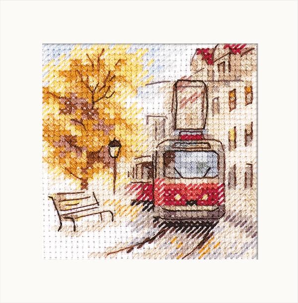 0-217 Осень в городе. Трамвай
