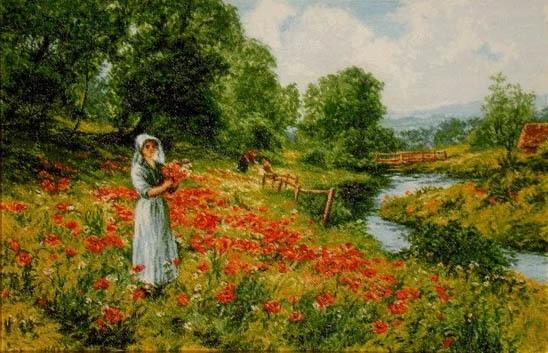 0758 Девушка с цветами