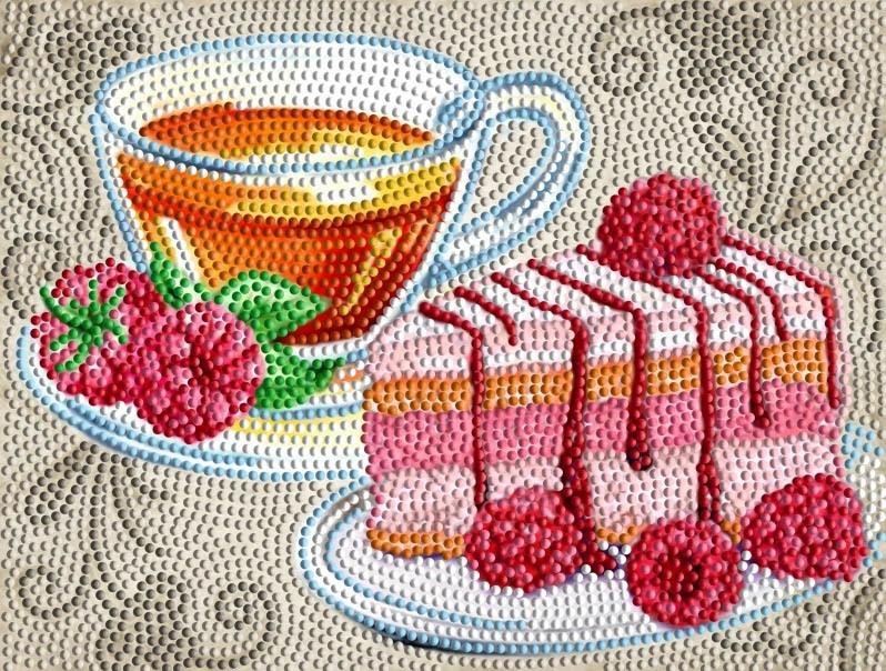 Алмазная вышивка БСА4-081 Фруктовый чай