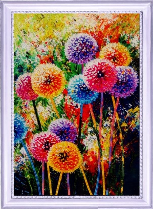 134 Радужные одуванчики - Butterfly
