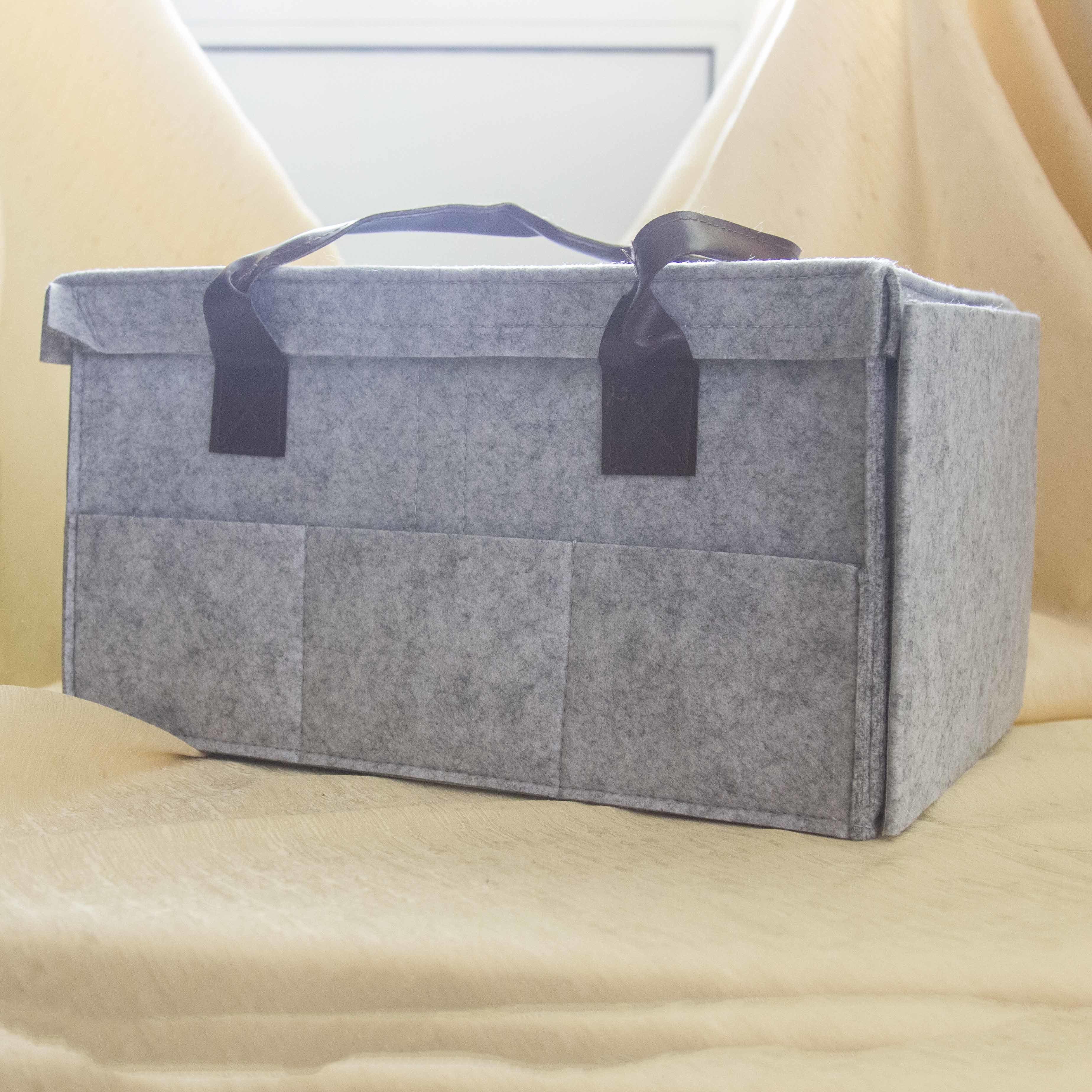 """10000041 Войлочный органайзер-коробка для хранения процессов и рукодельных принадл. """"Grey Box"""""""