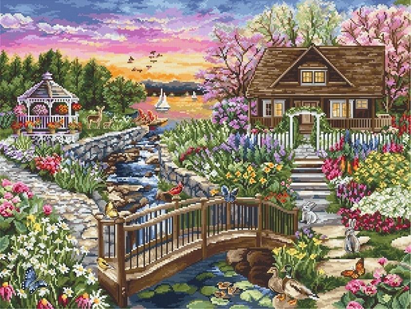 B2379 Цветущая весна на озере