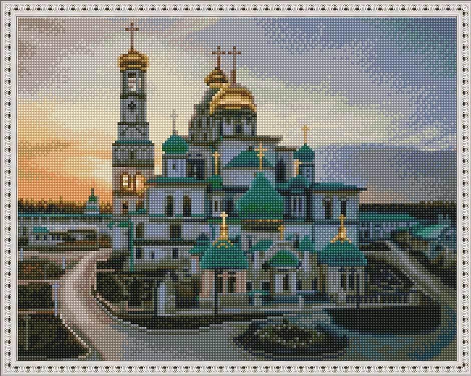 Алмазная вышивка KM0669 Новоиерусалимский монастырь