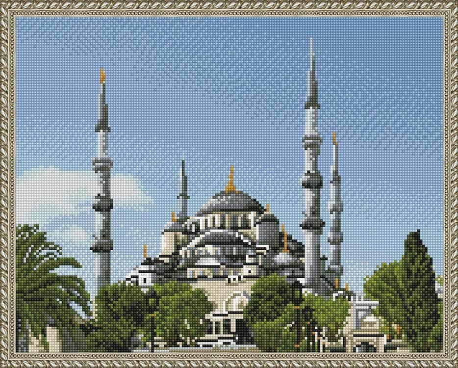 Алмазная вышивка KM0862 Стамбул. Голубая мечеть