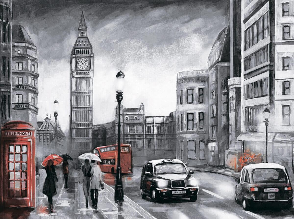 Алмазная вышивка lg250 Лондон под дождем