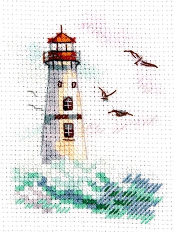 0-223 Море волнуется. Белый маяк