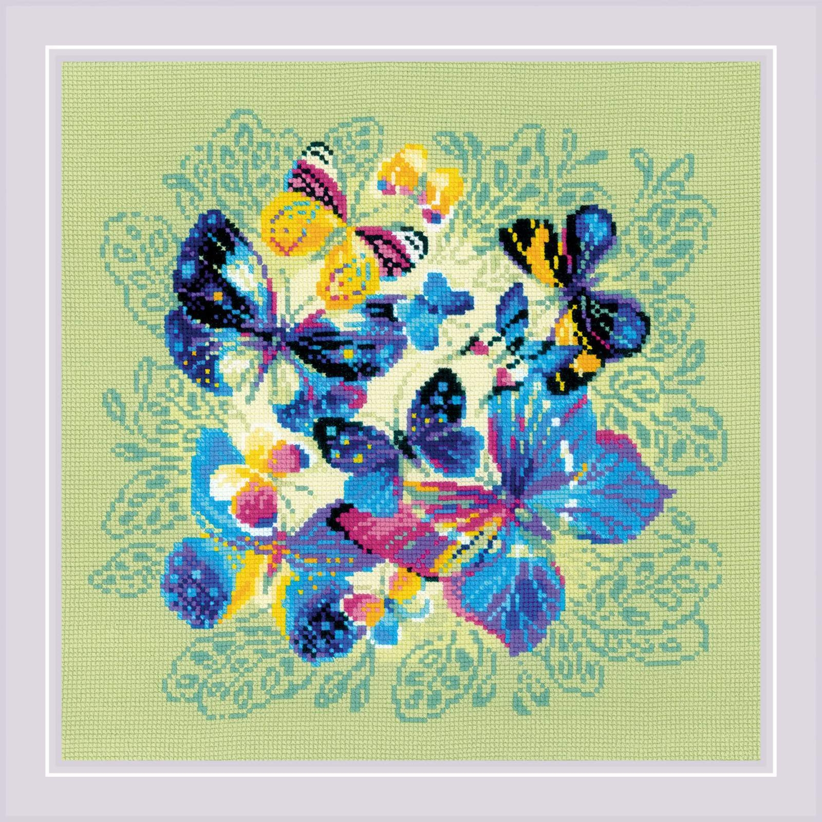 """1958 """"Панно/подушка """"Яркие бабочки"""""""