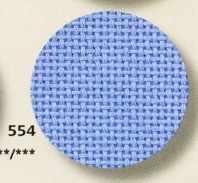 3256 Bellana (52%хлопок+48%вискоза), col 554-голубой,  шир 140, 20 ct - 80 кл/10см