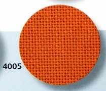 3835 Lugana (52% хлопок, 48% вискоза) цвет 4005 -оранжевый, шир 140. 25ct- 100кл/10 см