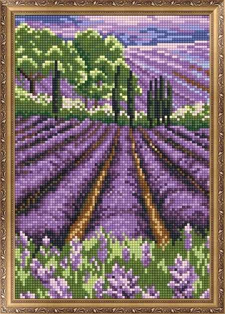 401303 Сиреневое поле - мозаика Anya
